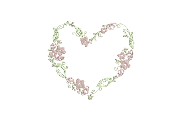 Download Free Heartshaped Pink Flower Wreath Creative Fabrica for Cricut Explore, Silhouette and other cutting machines.
