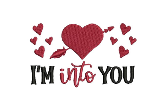 Im into You Valentine's Day Embroidery Design By Embroidery Designs - Image 1