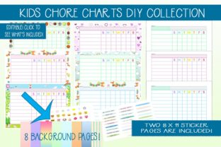 Print on Demand: Kids DIY Chore Chart Collection Kit Graphic Print Templates By CapeAirForce