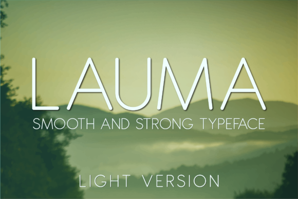 Print on Demand: Lauma Light Sans Serif Font By Huntype - Image 1