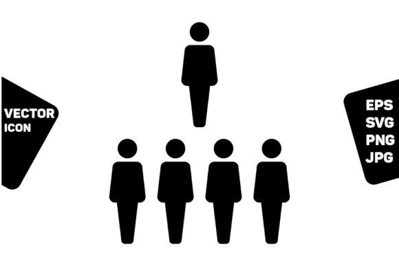 Download Free Leader Icon Vector Male Group Of Persons Graphic By Tuktuk for Cricut Explore, Silhouette and other cutting machines.