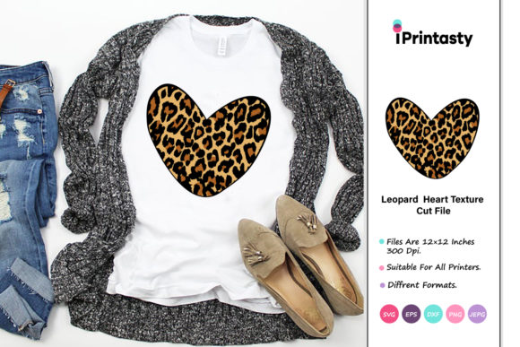 Print on Demand: Leopard Heart Texture Graphic Crafts By iprintasty