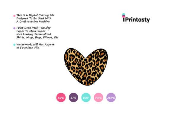 Download Free Leopard Heart Texture Grafik Von Iprintasty Creative Fabrica for Cricut Explore, Silhouette and other cutting machines.