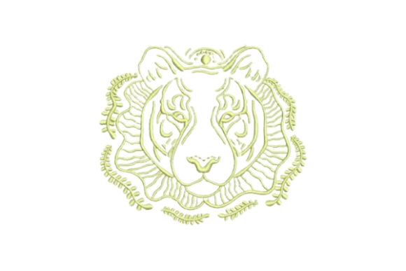 Linework Tiger Wild Animals Embroidery Design By Embroidery Designs