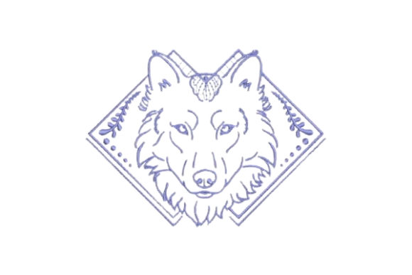 Linework Wolf Wilde Tiere Stickdesign von Embroidery Designs
