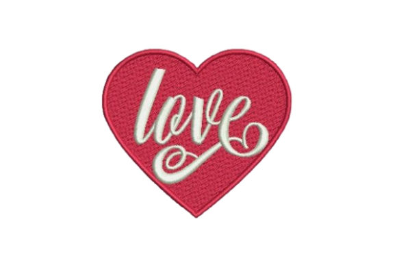Love Valentine's Day Embroidery Design By Embroidery Designs