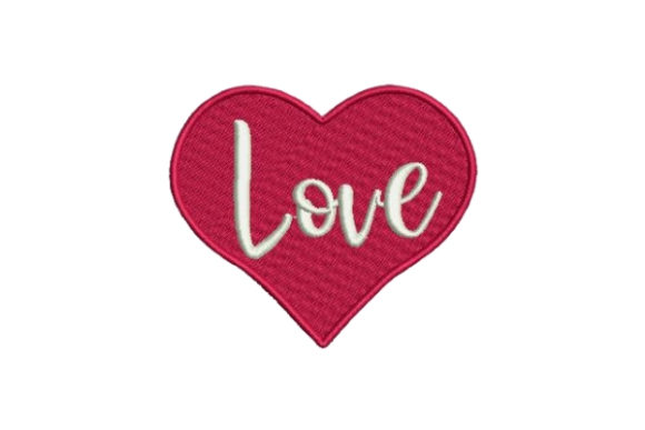 Love Heart Valentine's Day Embroidery Design By Embroidery Designs
