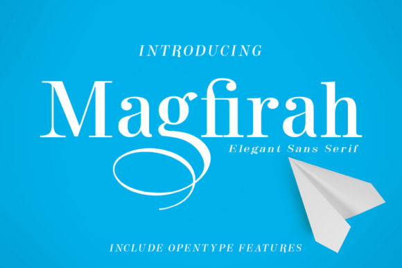 Print on Demand: Magfirah Sans Serif Font By ed.creative