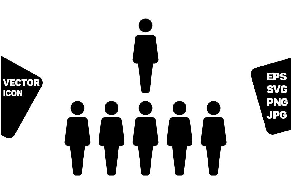 Download Free Management Icon Vector Male Person Group Graphic By Tuktuk for Cricut Explore, Silhouette and other cutting machines.