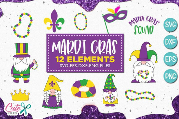 Download Free Mardi Gras Sayings Graphic By Cute Files Creative Fabrica for Cricut Explore, Silhouette and other cutting machines.