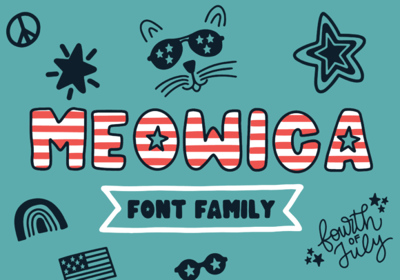 Print on Demand: Meowica Display Font By The Pretty Letters