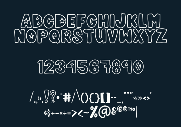 Print on Demand: Meowica Display Font By The Pretty Letters - Image 3