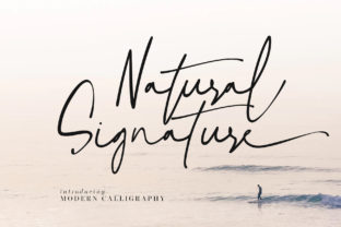 Print on Demand: Natural Signature Script & Handwritten Font By agniardii
