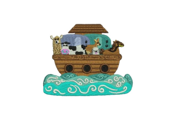Noahs Ark Baby Animals Embroidery Design By Embroidery Designs - Image 1
