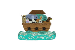 Noahs Ark Baby Animals Embroidery Design By Embroidery Designs