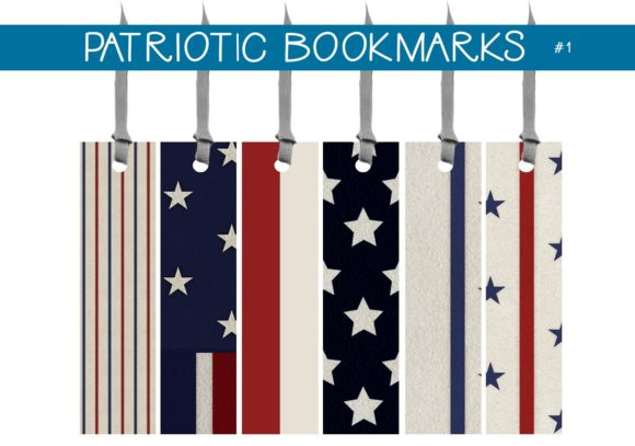 Print on Demand: Patriotic Bookmarks Graphic Illustrations By capeairforce