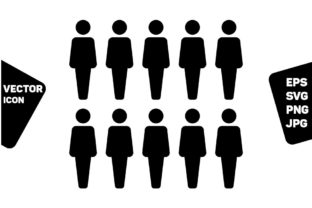 Print on Demand: People Icon Vector Male Group of Persons Graphic Icons By TukTuk Design