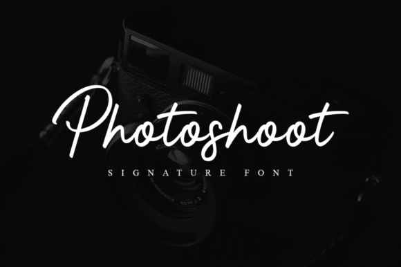 Print on Demand: Photoshoot Script & Handwritten Font By Suby Store