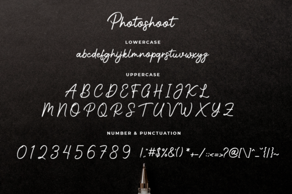 Print on Demand: Photoshoot Script & Handwritten Font By Suby Store - Image 7