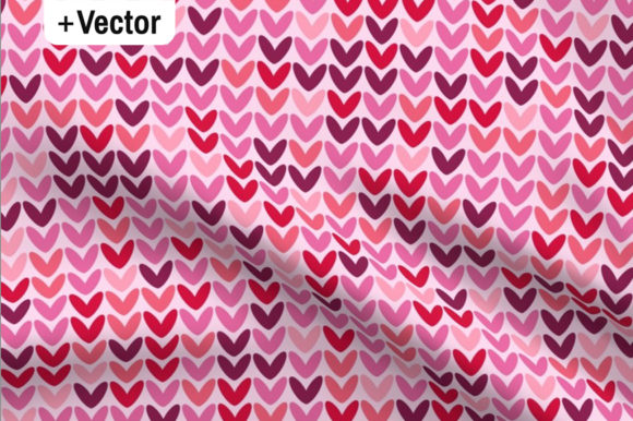Download Free Pink Hearts Knit Background Pattern Graphic By Dana Du Design for Cricut Explore, Silhouette and other cutting machines.