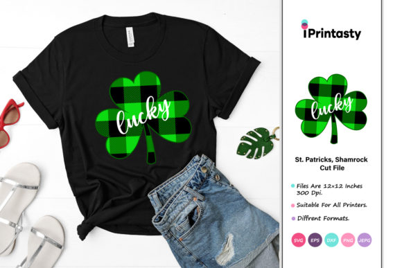 Print on Demand: Plaid Shamrock St Patrick's Day Graphic Crafts By iprintasty