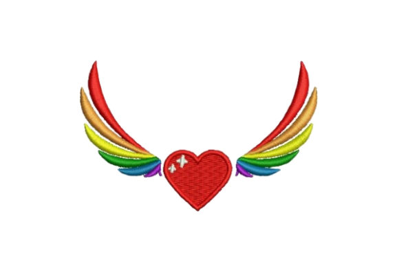 Pride Wings Awareness Embroidery Design By Embroidery Designs