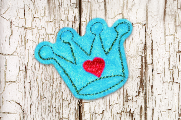 Princess Crown Feltie Fairy Tales Embroidery Design By DesignedByGeeks - Image 1