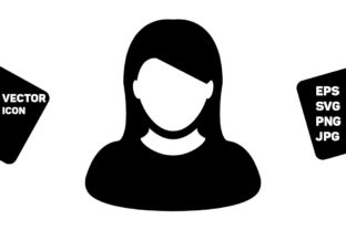Download Free Profile Icon Vector Female User Person Graphic By Tuktuk Design for Cricut Explore, Silhouette and other cutting machines.