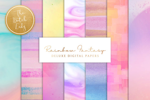 Print on Demand: Rainbow Fantasy Graphic Backgrounds By daphnepopuliers - Image 1
