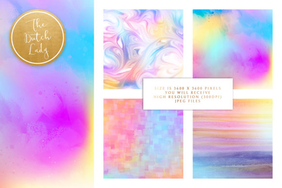 Print on Demand: Rainbow Fantasy Graphic Backgrounds By daphnepopuliers - Image 2