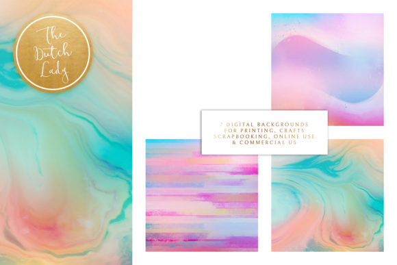 Print on Demand: Rainbow Fantasy Graphic Backgrounds By daphnepopuliers - Image 3