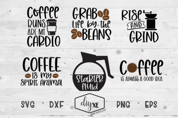 Rise and Grind Bundle Graphic Crafts By Sheryl Holst