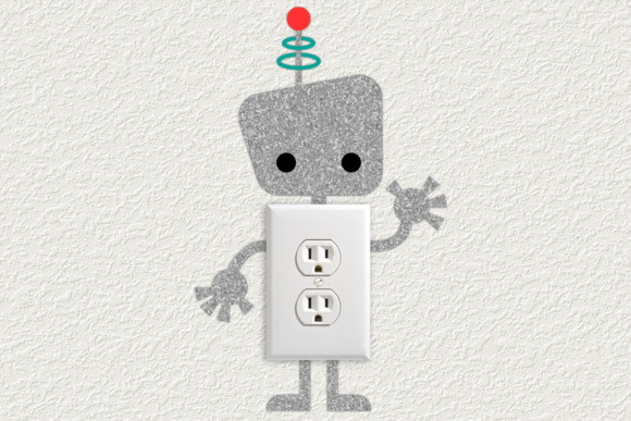 Download Free Robot Light Switch Graphic By Risarocksit Creative Fabrica for Cricut Explore, Silhouette and other cutting machines.