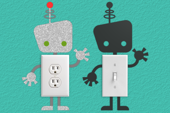 Download Free Robot Light Switch Graphic By Risarocksit Creative Fabrica SVG Cut Files