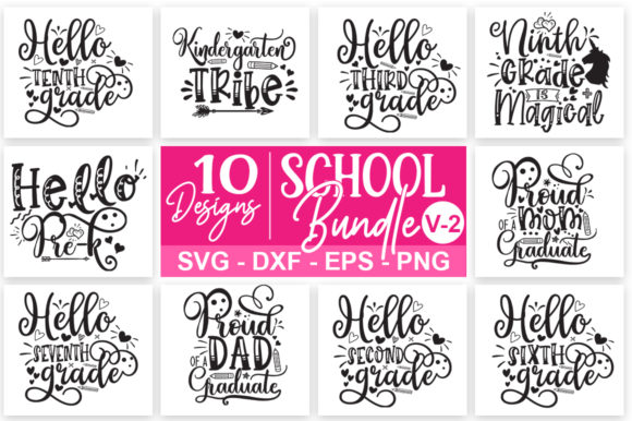 Print on Demand: School Bundle Graphic Print Templates By Designdealy.com