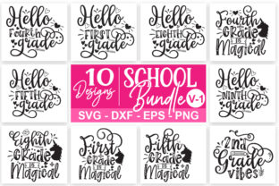 Print on Demand: School Bundle Graphic Print Templates By Designdealy
