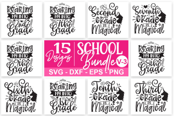 Print on Demand: School Bundle Grafik Druck-Templates von Designdealy.com