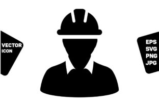 Download Free Service Worker Icon Vector Construction Graphic By Tuktuk Design for Cricut Explore, Silhouette and other cutting machines.