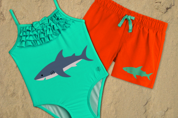 Shark Graphic Crafts By RisaRocksIt