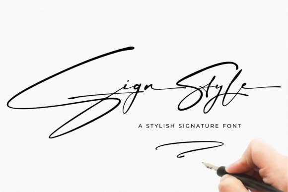 Print on Demand: Sign Style Script & Handwritten Font By RedyStudio