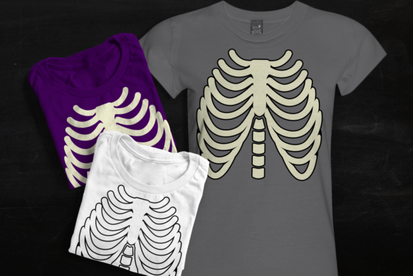 Skeleton Ribcage Graphic Crafts By RisaRocksIt