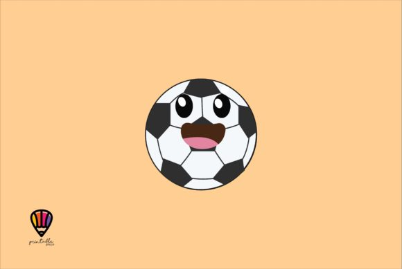 Download Free Soccer Ball Graphic By Printablesplazza Creative Fabrica for Cricut Explore, Silhouette and other cutting machines.