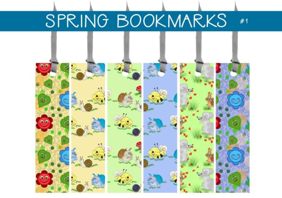 Print on Demand: Spring Bookmarks   #1 Graphic Illustrations By capeairforce