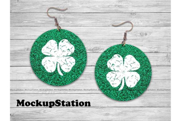 Download Free St Patrick S Clover Earring Bundle Graphic By Mockup Station for Cricut Explore, Silhouette and other cutting machines.