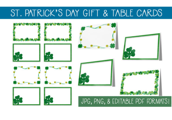 St Patrick S Day Gift Cards Table Cards Graphic By Capeairforce