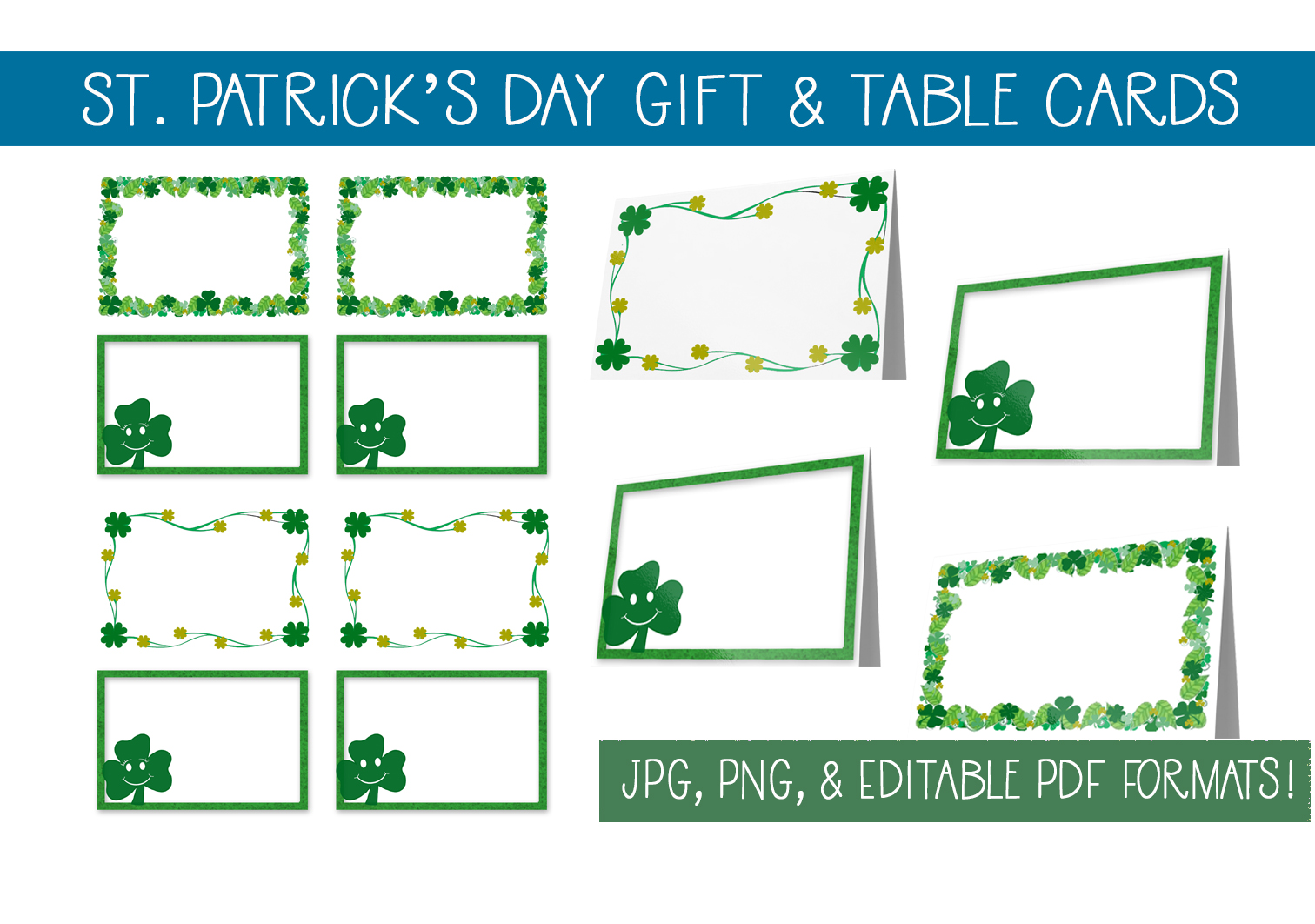 Download Free St Patrick S Day Gift Cards Table Cards Graphic By Capeairforce for Cricut Explore, Silhouette and other cutting machines.