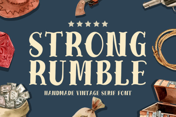 Print on Demand: Strong Rumble Display Schriftarten von Blankids Studio