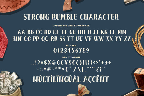 Print on Demand: Strong Rumble Display Font By Blankids Studio - Image 5
