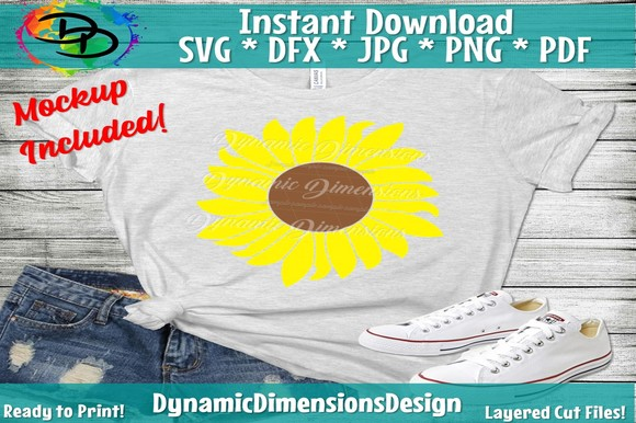Download Free Sunflower Graphic By Dynamicdimensions Creative Fabrica for Cricut Explore, Silhouette and other cutting machines.
