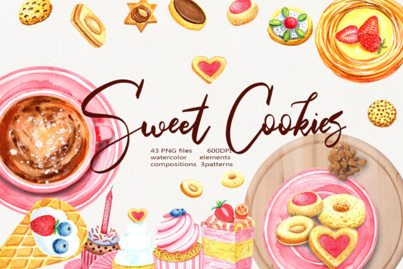 Sweet Cookies Graphic Illustrations By evgenia_art_art